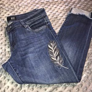 Kut from the Kloth Amy Ankle Straight Jeans 4p